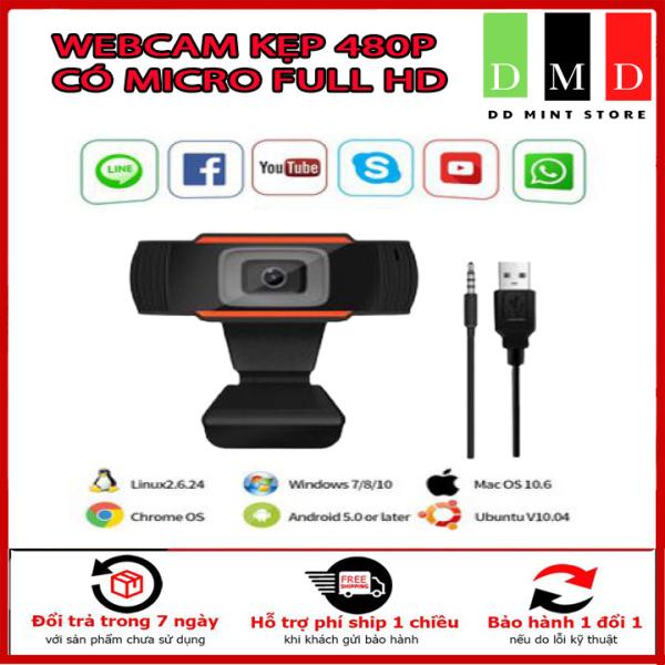 Bảng giá Webcam máy tính laptop livestream có Mic Full HD PC Gaming 480P chất lượng cao. Bảo Hành 6 tháng. Phong Vũ