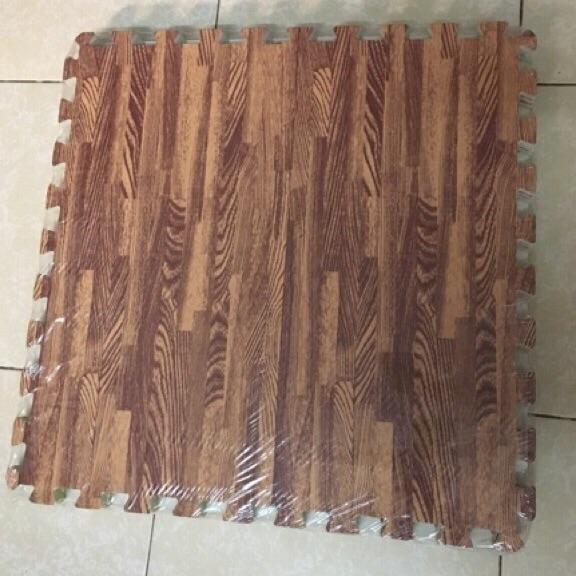 Hình ảnh thảm xốp ghép vân gỗ lót sàn