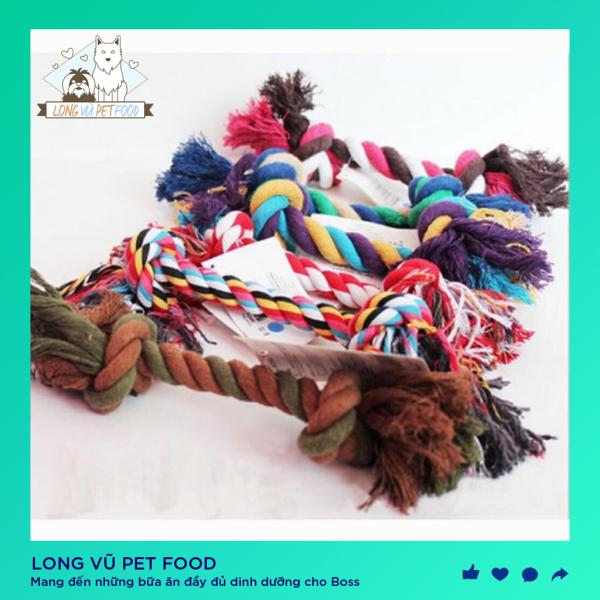 Đồ cho chó. Dây cotton bện thừng cho cún chống gặm - Long Vũ Pet Food