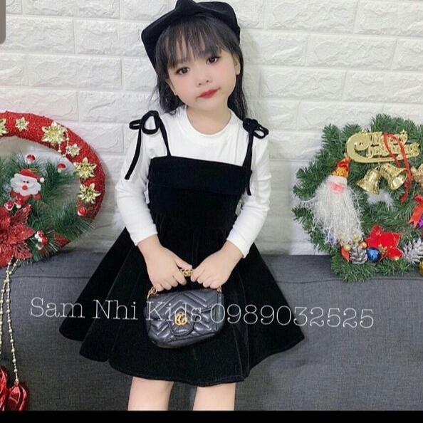 Giá bán Set váy bé dài tay ( không kèm nón)