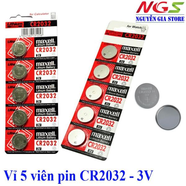 Giá Vỉ 5 viên pin CMOS CR2032 Maxell Lithium Battery 3V