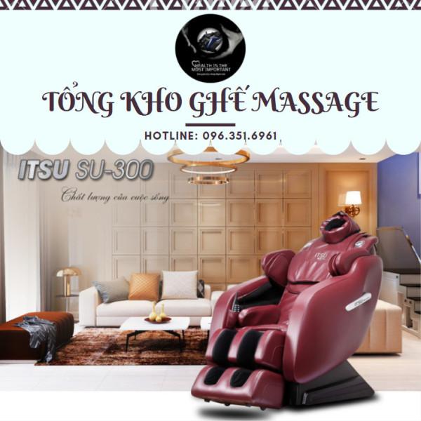 [NEW 2021] Ghế massage ITSU SU-300 liên động tự động massage toàn thân thời thượng quý phái trị liệu Nhật Bản