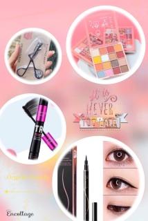 Bộ trang điểm mắt 4 món gồm phấn mắt 12 màu, Mascara, bấm mi, kẻ mắt nước thumbnail