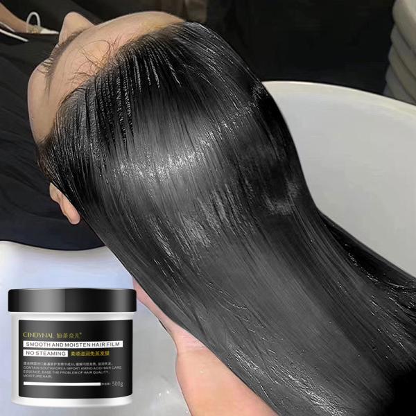 mặt nạ tóc không cần hơi nuôi dưỡng và mịn màng kem hấp dầu ủ tóc chuyên nghiệp giàu Keratin nuôi dưỡng tóc chắc khỏe phục hồi tóc hư tổn nặng mask chống khô xơ 500g dẻo dai và thẳng tự nhiên và mịn màng