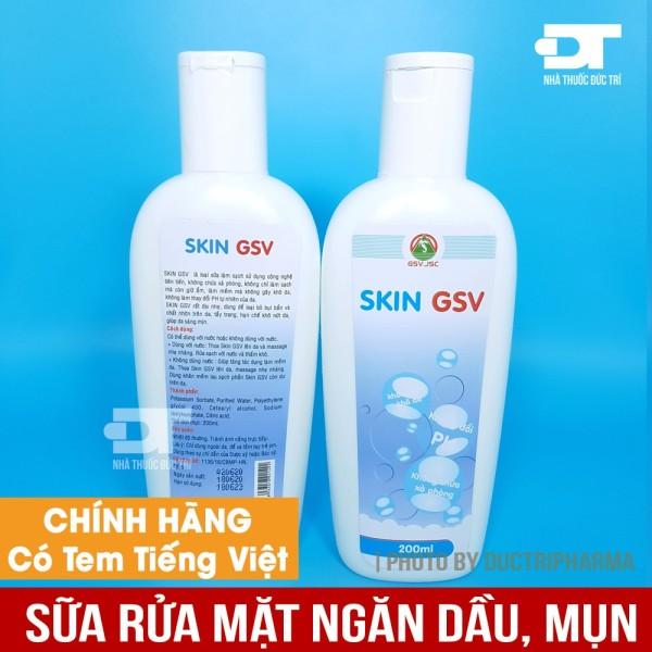 Sữa rửa mặt skin gsv 200ml - dành cho da dầu mụn nhạy cảm, cam kết hàng đúng mô tả, chất lượng đảm bảo an toàn đến sức khỏe người sử dụng