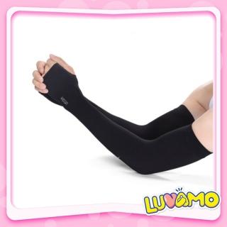 Găng tay chống nắng nam nữ xỏ ngón LUVAMO co dãn tốt thumbnail