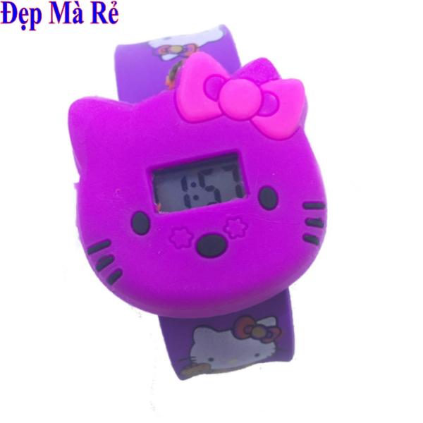 Nơi bán Đồng Hồ Bé Gái Đầu Mèo Kitty Dây Cao Su Dẻo Có Hình Kitty