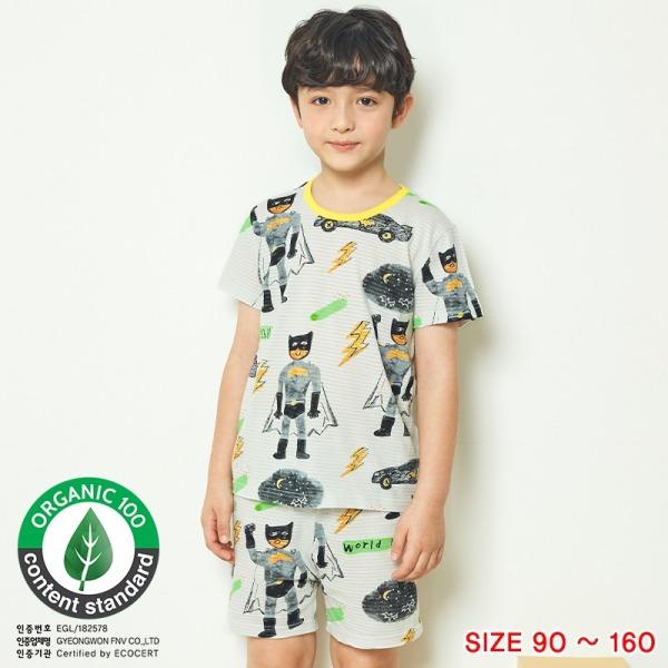 Đồ bộ ngắn tay mặc nhà cotton giấy cho bé trai U3012 - Unifriend Hàn Quốc, Cotton Organic