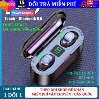 Tai nghe bluetooth 5.0 Amoi F9 kiêm sạc dự phòng 2000mAh, Điều khiển cảm ứng vân tay, màn LED báo pin, chống nước, chống ồn, tai nghe không dây, tai nghe bluetooth dùng cho các dòng điện thoại, hay hơn tai nghe i11, i12 thumbnail