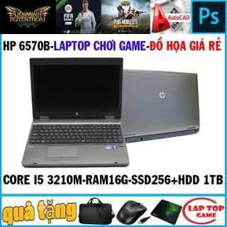 LAPTOP CHƠI FIFA 4, PUBG MOBI, PHOTOSHOP, HP Probook 6570 ( Core i5 3210M,Ram 16G, SSD256+ HDD 1TB,Màn 15.6, Phím Số, Vỏ Nhôm thumbnail