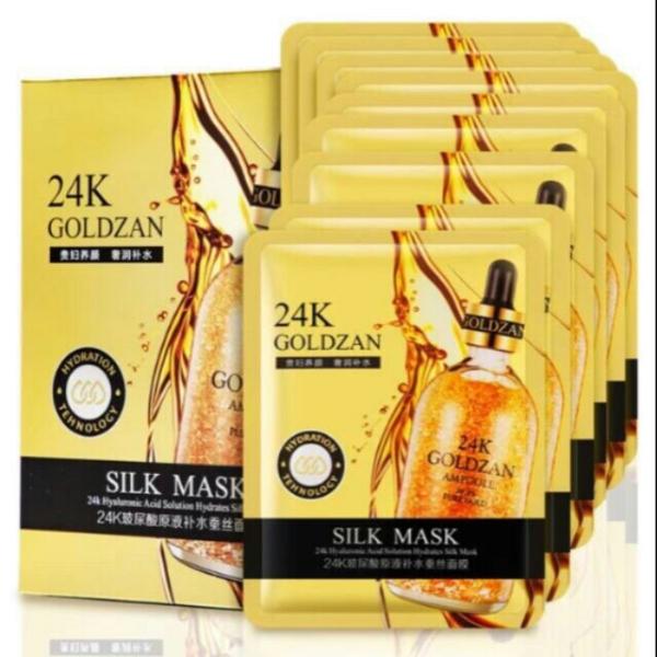 20 miếng mặt nạ vàng 24k Goldzan dưỡng trắng chống lão hóa da