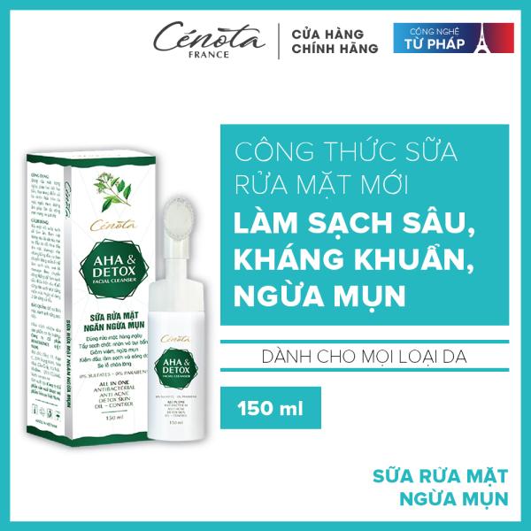Sữa rửa mặt AHA Detox 150ml, sữa rửa mặt giúp tạo bọt, kiềm dầu, ngăn ngừa mụn hiệu quả nhập khẩu