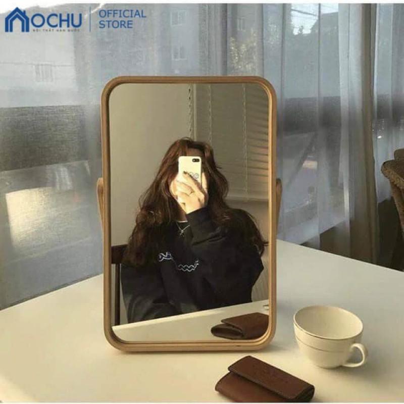 Gương Để Bàn OCHU Khung Gỗ - Mini Mirror - Natural