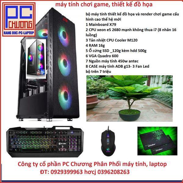 Bảng giá Chiến Game, Main X79 ,CPU  xeon E5 2680 RAM 16g Ổ cứng SSD _120g 6 lõi 12 luồng tương đương chíp i7 Phong Vũ