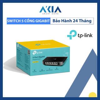 TP-Link Switch Gigabit 5 cổng RJ45 Tăng tốc máy chủ - TL-SG1005D - AKIA Smart Home phân phối chính hãng - Bảo hành 2 năm - Lỗi 1 đổi 1 trong 7 ngày đầu