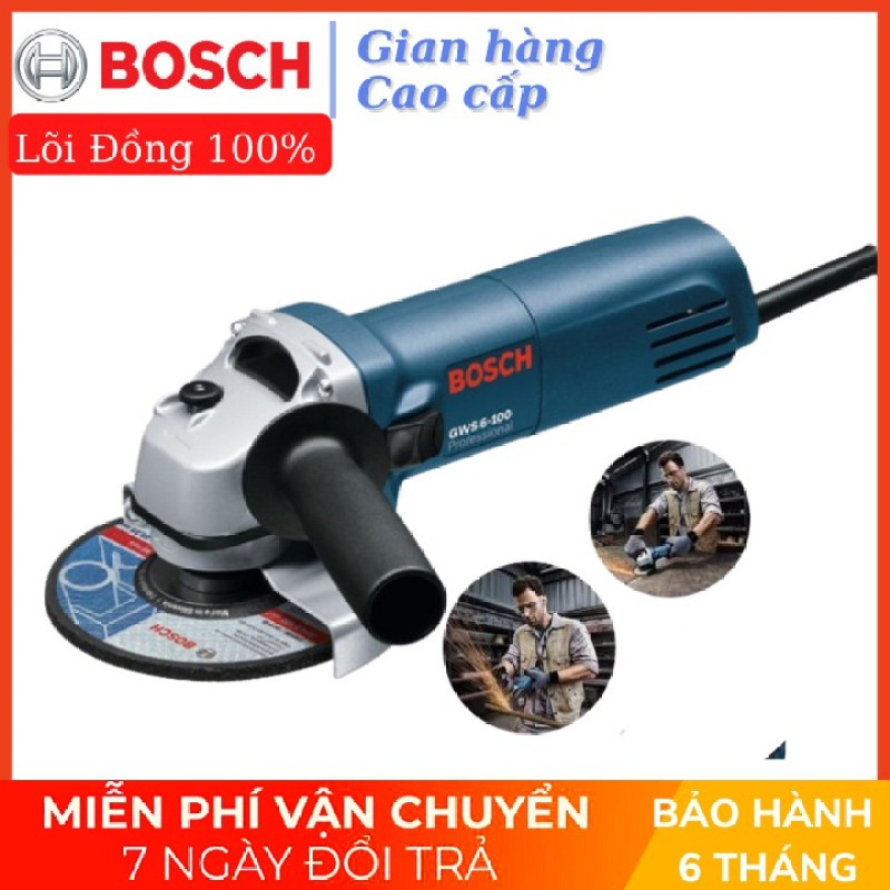 Máy mài, máy cắt BOSH GWS 6-100 Dây đồng 100% có điều chỉnh tốc độ