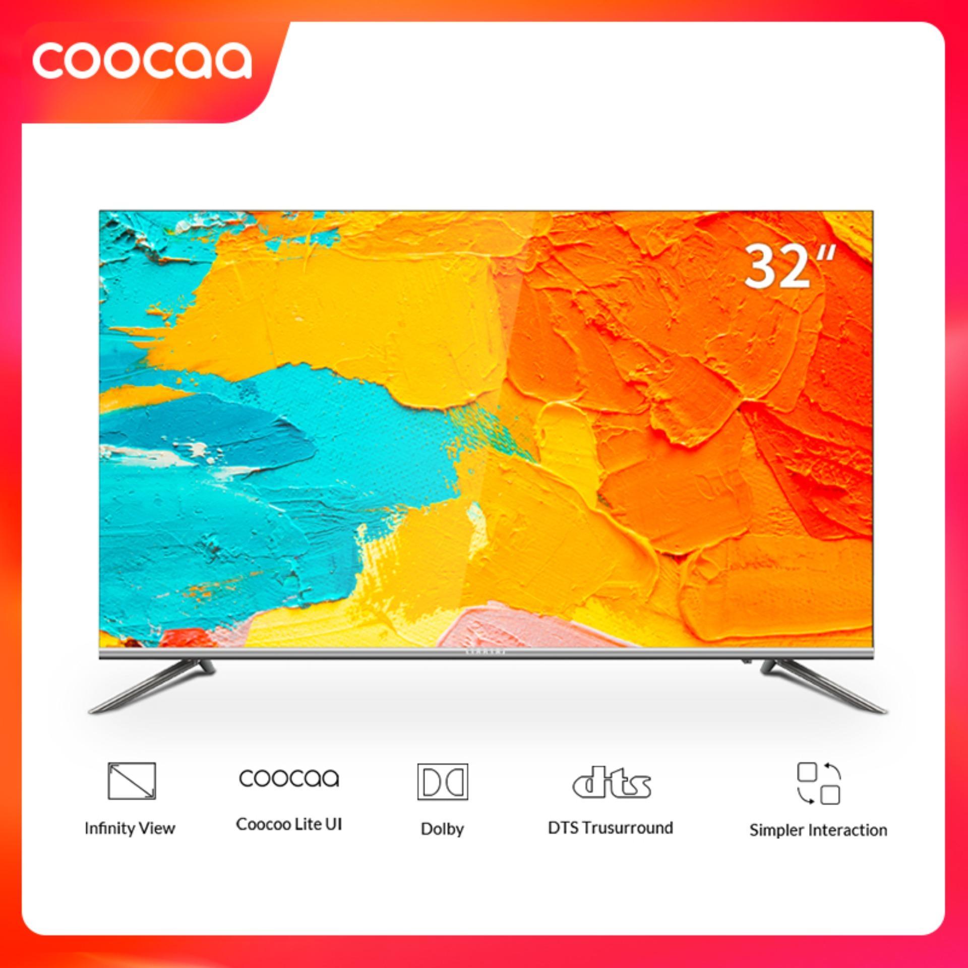 Smart TV HD Coocaa 32 inch Wifi - Tràn viền - Model 32S5C (Bạc) - Chân viền kim loại