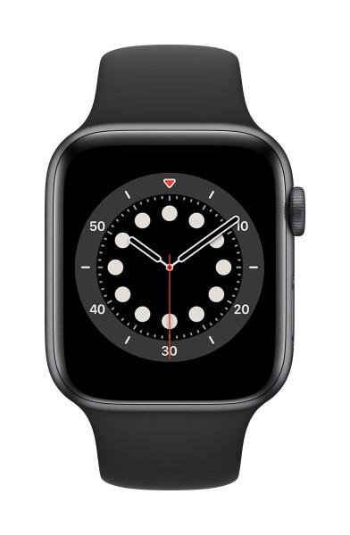 [NEW] Đồng hồ thông minh Apple Watch Series 6 44mm GPS + LTE - Vỏ Nhôm Xám, Dây Cao Su Đen (MG2E3VN/A) - Hàng chính hãng, mới 100%