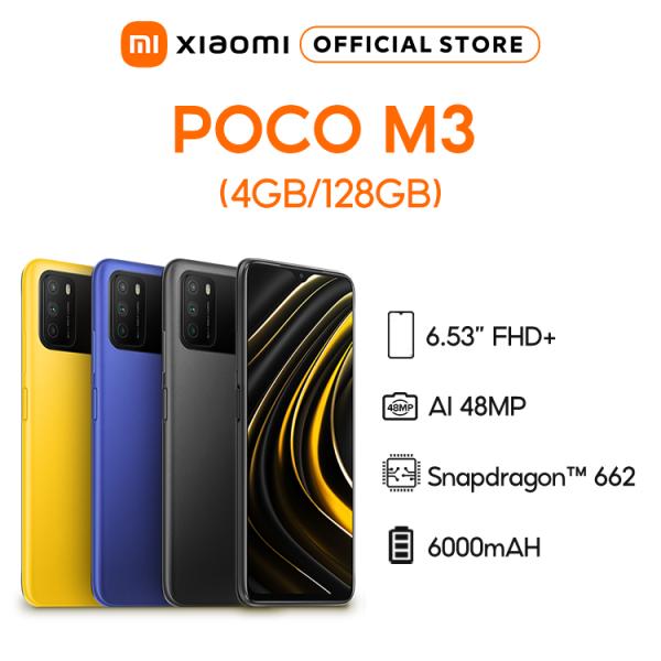 [Trả góp 0%]Điện thoại POCO M3 4GB/64GB | 4GB/128GB - Chip Snapdragon 662 Màn hình 6.53 Pin 6000mAH Sạc nhanh 18W Camera sau 48MP Android 10 MIUI 12 - BH Chính hãng 18 tháng