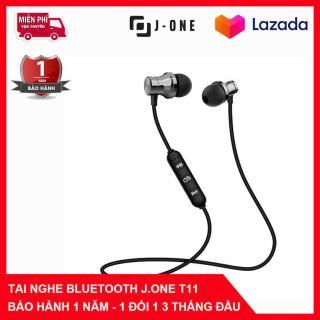 Tai Nghe Bluetooth 4.2 Nhét Tai Cao Cấp J.One T-12 hai đầu nam châm, có mic đàm thoại thumbnail