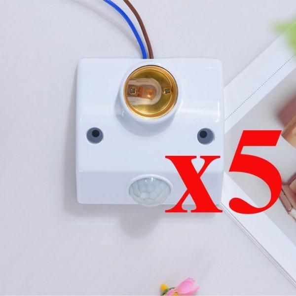 Bộ 05 đui đèn cảm ứng chuyển động hồng ngoại E27