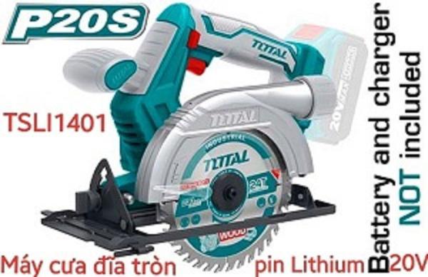 Máy cưa đĩa tròn dùng pin Lithium 20V Total TSLI1401 (KHÔNG GỒM PIN VÀ SẠC)