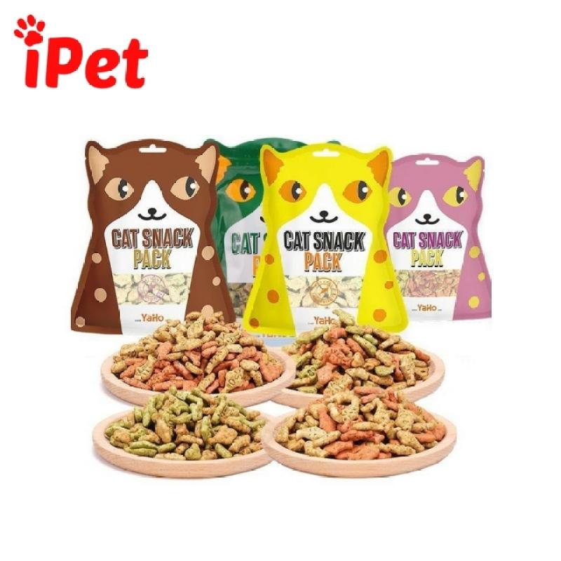Bánh Quy Thưởng Cho Mèo Hình Cá Yaho Gói 80g - iPet Shop