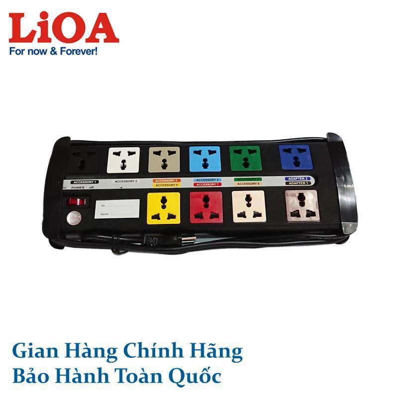 Ổ cắm điện đa năng LiOA 10 ổ cắm (10D-S3-3)