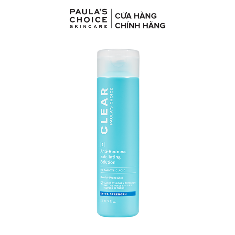 Dung dịch tẩy da chết ngăn ngừa mụn sưng viêm chuyên sâu Paula's Choice Clear Extra Strength Anti-Redness Exfoliating Solution 118ml 6210 giá rẻ