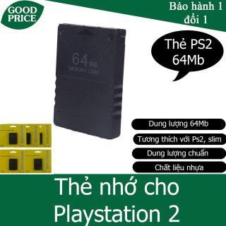 Thẻ nhớ cho máy chơi game Playstation 2, PS2 - dung lượng 64Mb thumbnail