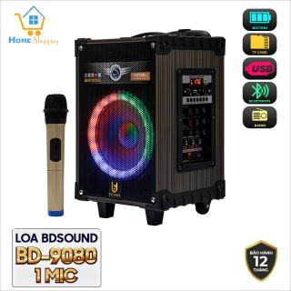 [ Dịch covid dự kiến giao hàng 31.7] Loa Bluetooth Karaoke BDSOUND BD-9080 bảo hành 12 tháng đổi mới trong 07 ngày nếu lỗi sản phẩm thumbnail