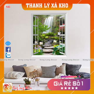 [THANH LÝ XẢ KHO] Tranh dán tường 3d - Tranh 3D Cửa Sổ - Giấy dán tường 3d - Song Long Decor - 143 thumbnail