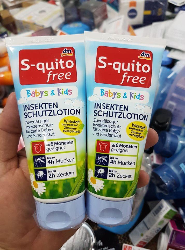 Kem bôi muỗi và con trùng S-Quitofree 100ml của Đức