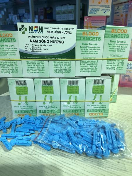 hộp 100 cây Kim lấy máu kim chích máu cho máy đo đường huyết thử tiểu đường Kaneko
