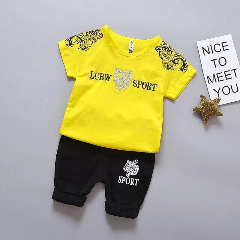 set bộ quần áo dành cho bé trai 1-5 tuổi hình hổ cực ngầu phong cách chất vải coton thoáng mát