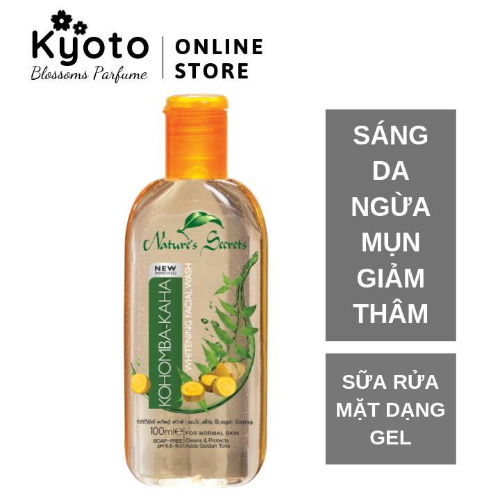 Sữa rửa mặt nam sáng da ngừa mụn dạng gel Kaha Facial Wash 100ml tốt nhất