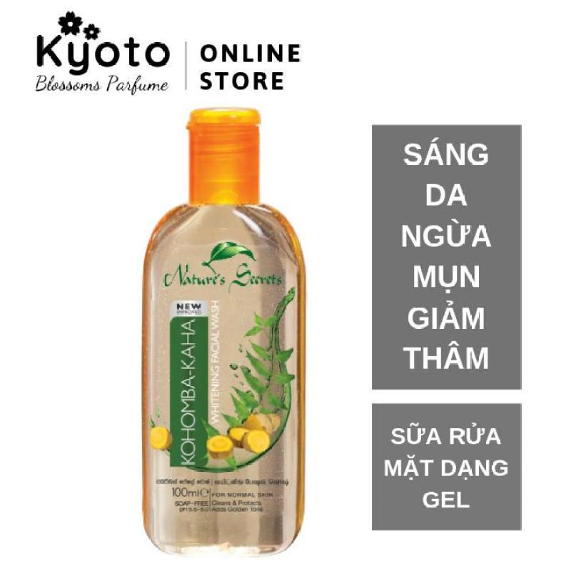Sữa rửa mặt nam sáng da ngừa mụn dạng gel Kaha Facial Wash 100ml