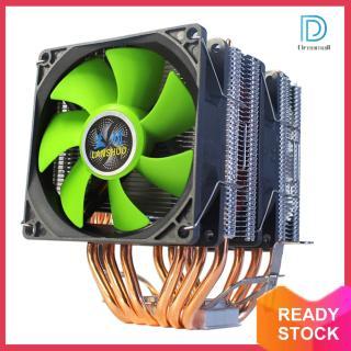 Quạt Vỏ Máy Tính, Bộ Tản Nhiệt 3 Chấu Không Ồn Làm Mát CPU 6 Ống Dẫn Nhiệt, Dành Cho AMD Intel LGA thumbnail