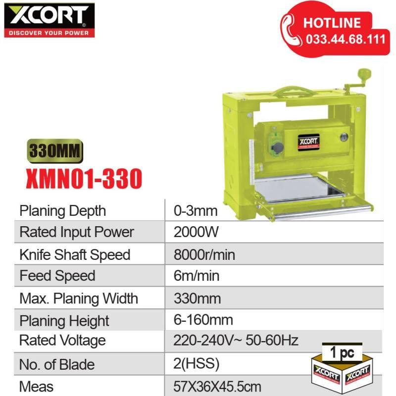 Máy bào cuốn 2000W XCORT Máy bào gỗ 1 mặt Bảo hành hãng 12 tháng