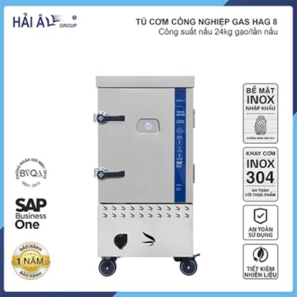 Tủ Cơm Công Nghiệp Hải Âu HAG 8 – Gas 8 Khay