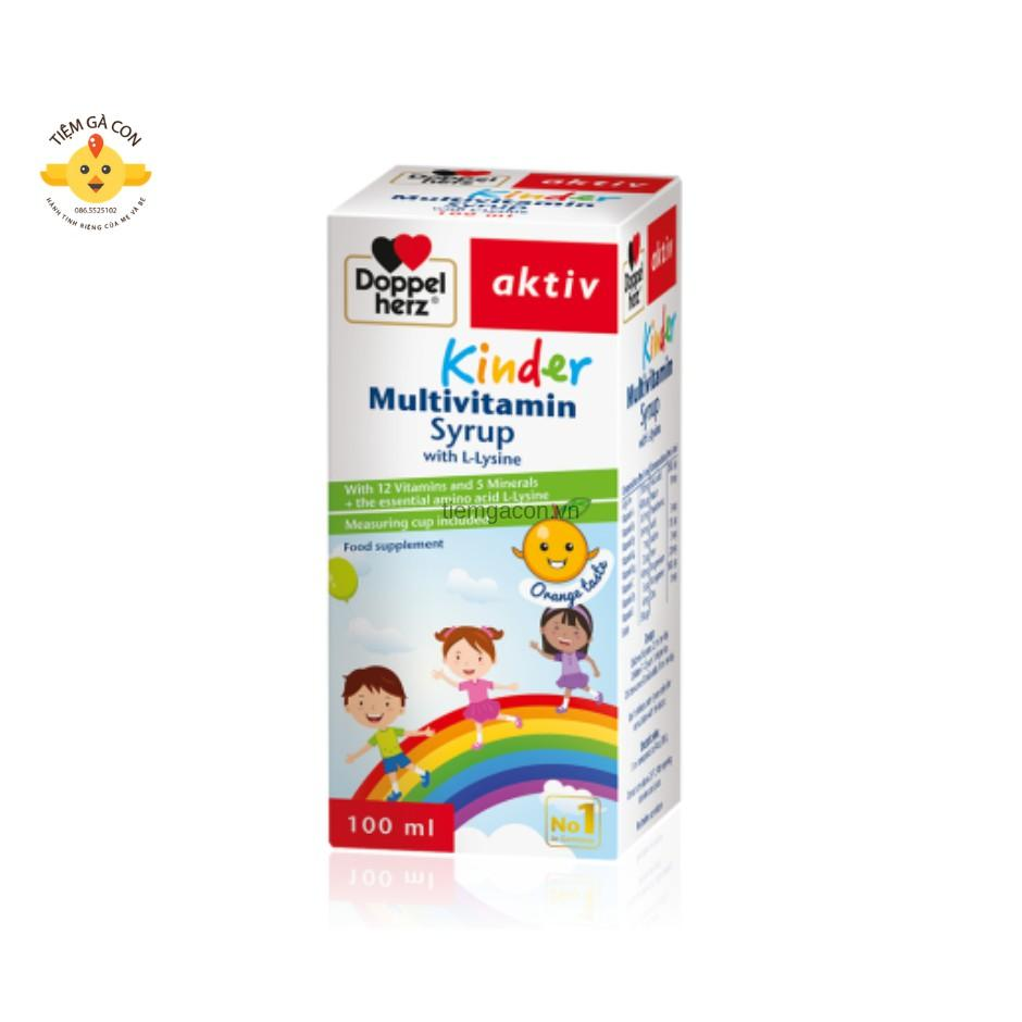 DOPPEL HERZ KINDER MULTIVITAMIN SYRUP with L-lysine cao cấp