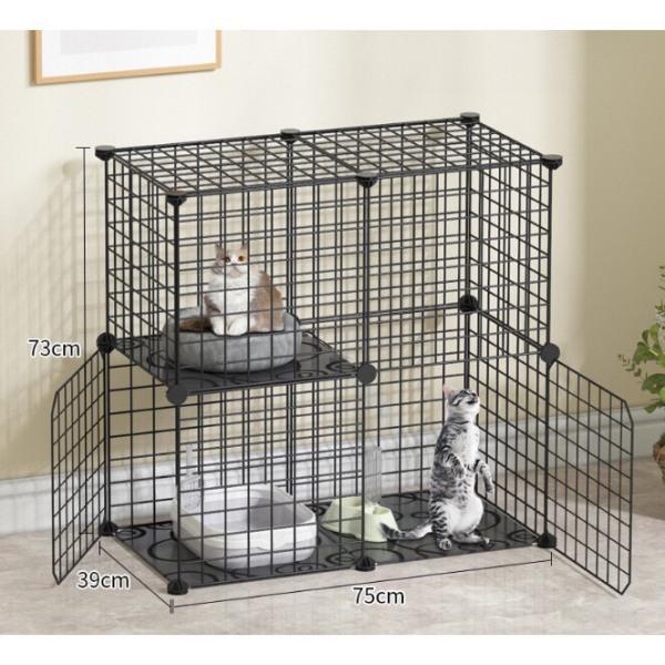 Combo chuồng Thú Cưng - Mèo tự lắp ghép thông minh - 75x37x75cm .