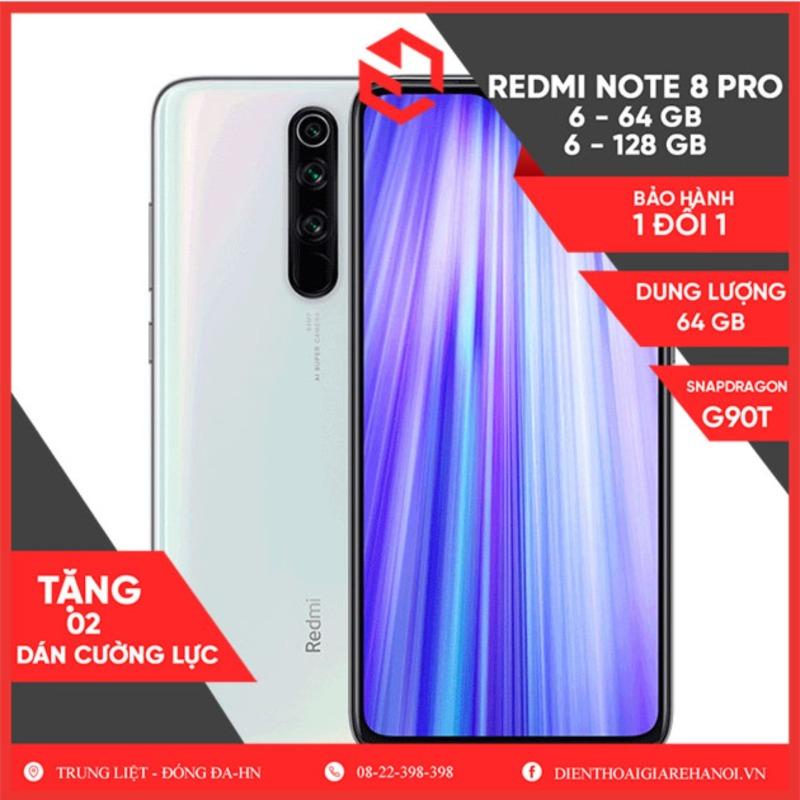 Điện thoại Xiaomi Redmi Note 8 Pro - RAM 6-64GB - 1 đổi 1 trong 3 tháng - Tặng DCL