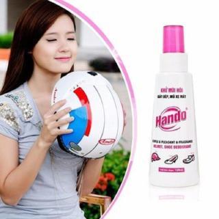 Chai xịt khử mùi hôi giày, dép, mũ bảo hiểm xe máy Hando 120ml BHKN28 thumbnail