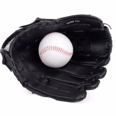 Hình ảnh 10.5 Inches Professional Baseball Glove Outdoor Sports Baseball Team Exercise Training Baseball Glove Left Hand Softball Gloves (Black) - intl
