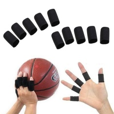Hình ảnh 10PCS Stretchy Finger Sleeve Support Wrap Arthritis Guard Volleyball Sports - intl