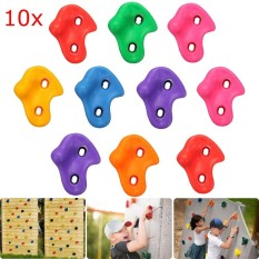 10Pcs Textured Climbing Rock Wall Stones Kid Assorted Color Assorted Kit Bolt - intl