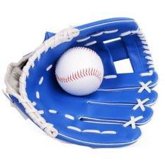 Hình ảnh 11.5 Inches Professional Baseball Glove Outdoor Sports Baseball Team Exercise Training Baseball Glove Left Hand Softball Gloves (Blue) - intl