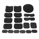 Giá Bán Rẻ Nhất 19Pcs Set Soft And Durable Eva Foam Tactical Helmet Pads Foam Padreplacement Accessories Intl