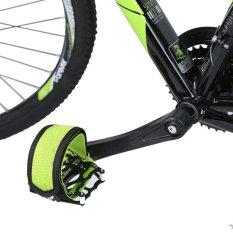 1 Cố Định Gear Fixie Xe Đạp BMX Chống trơn trượt Đôi Dính Dây Bàn Đạp Dây Đeo Dây Xanh Lá-quốc tế